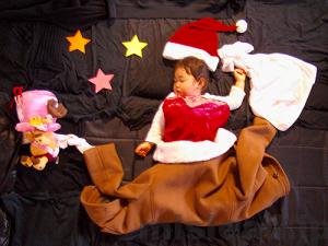 寝相アート クリスマス