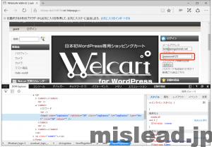 非表示になっていたパスワードが表示された画面 internet explorer