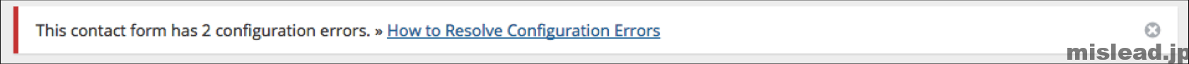 This contact form has 2 configuration errors.
