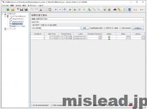 JMeter CSV読み込み用 結果を表で表示