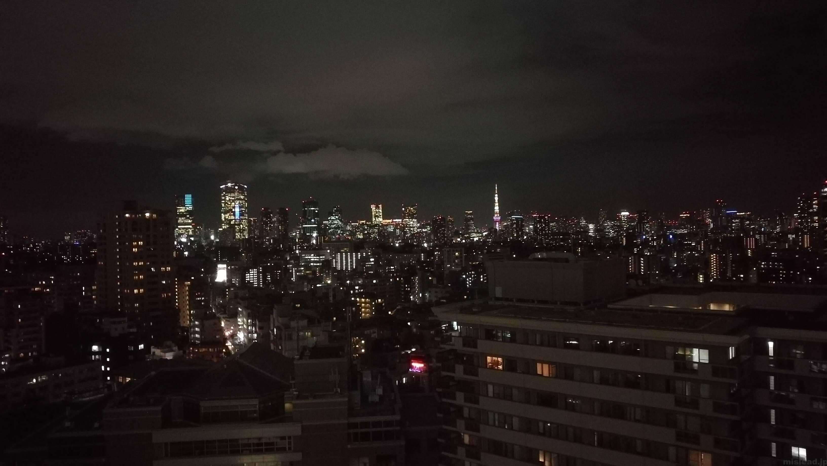 HUAWEI P9 背面カメラ 夜景