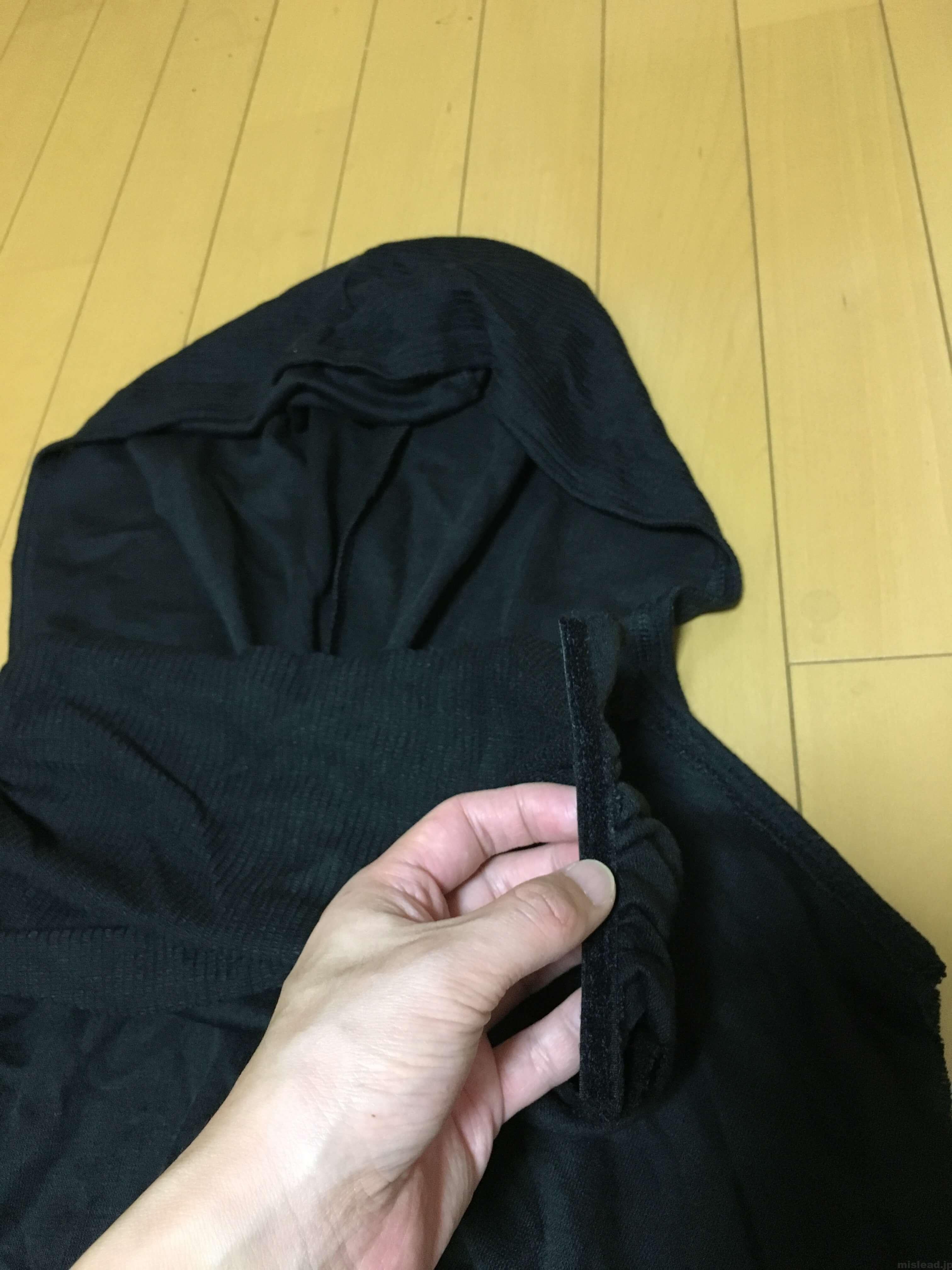 フードのマジックテープ カイロ・レン コスプレ衣装