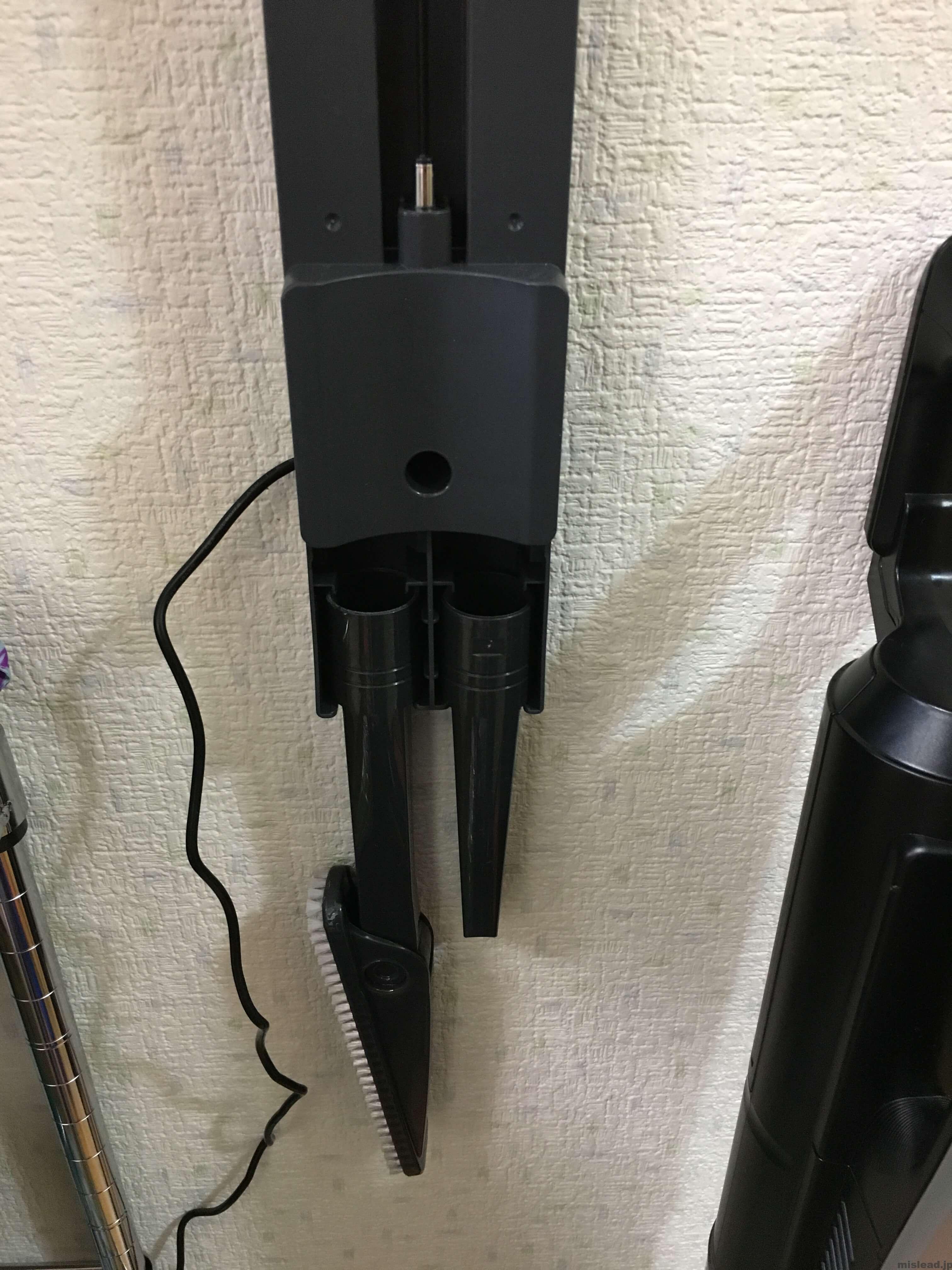 コードレス掃除機iT MC-BU500Jの壁掛け前拡大