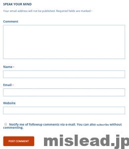 problogger.comのコメント入力