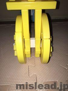 ニューブロックの自転車 タイヤ正面