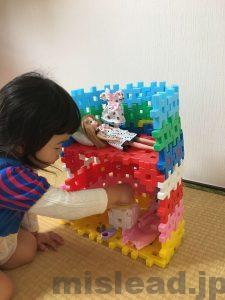 リカちゃんハウスと子供 ニューブロック