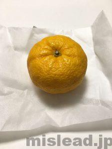 今半のお食い初め膳 お土産の柚子