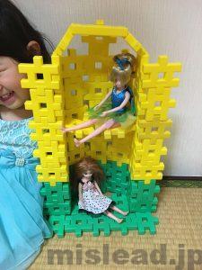 ニューブロックでとうもろこし 人形の家