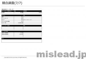 競合調査(7/7) 新規事業の提案書