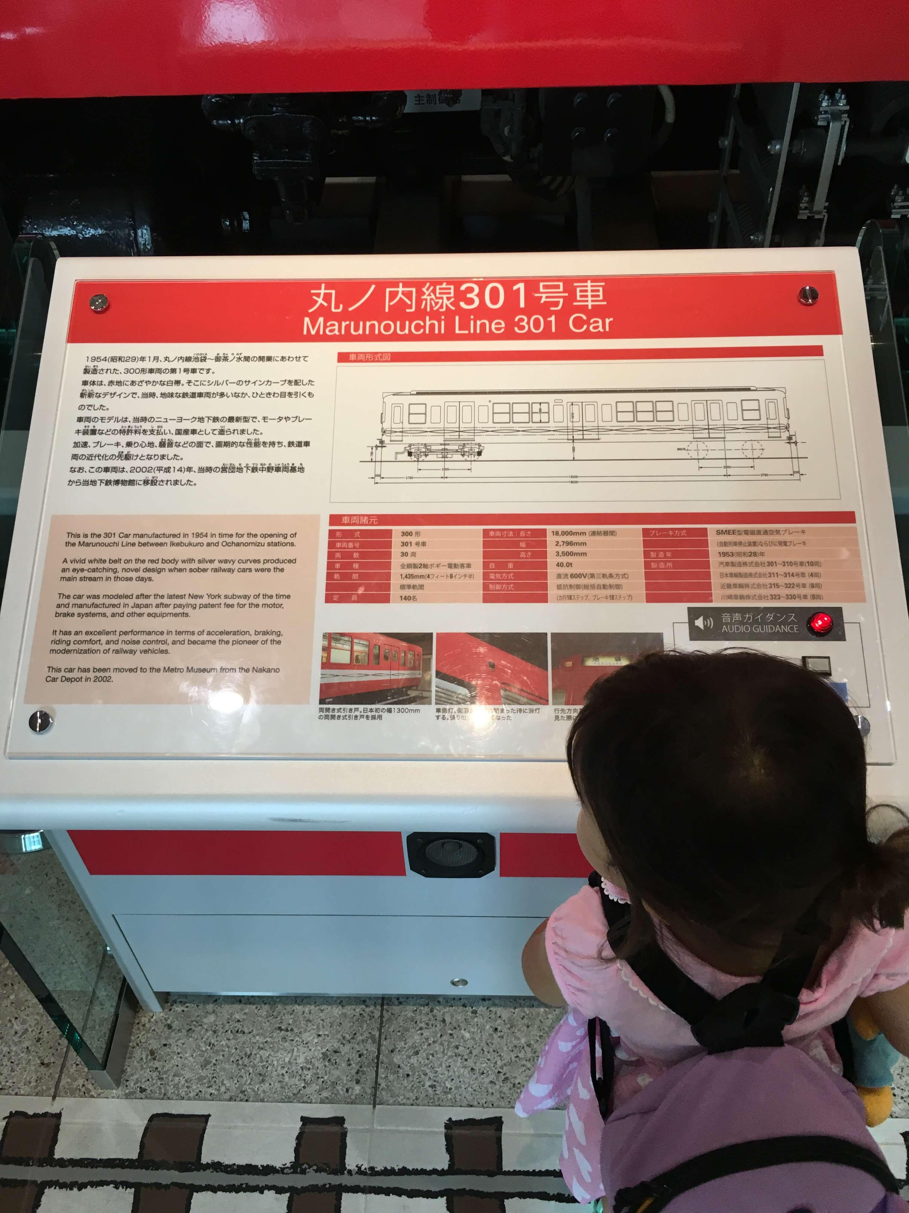 地下鉄博物館 丸ノ内線301号の説明