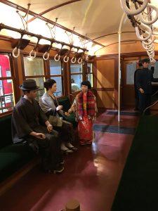 地下鉄博物館 昔の電車内