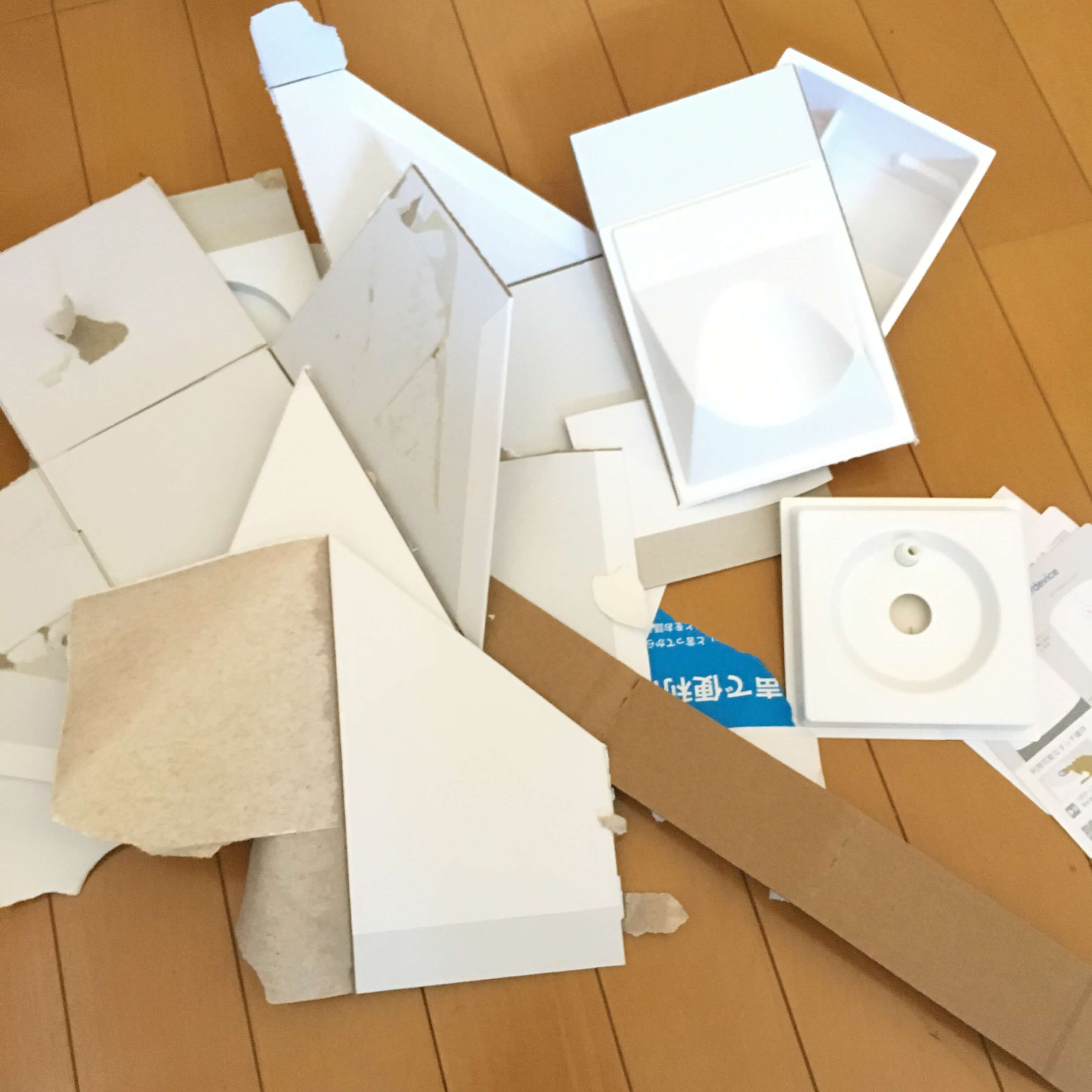 google home 外箱のゴミ