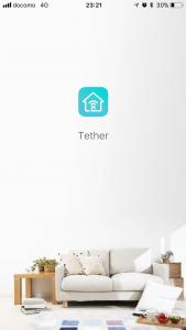 Tetherアプリ起動画面